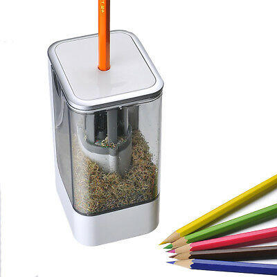 Automatic Electric Pencil Sharpener 360° Spiral Hob Cutter Home Office School