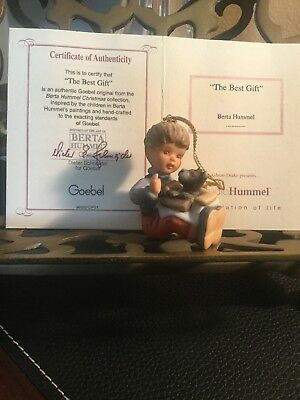 """1997 ~""""The Best Gift""""~ Berta Hummel Christmas Ornament Authenticity Card"""