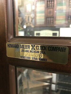 Vintage Howard Miller Clock Company GrandFather Clock model #610-154