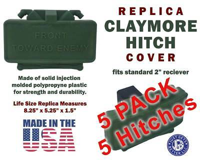 (5 pack) CLAYMORE HITCH Cover - Life Size Replica Claymore Mine Great Gift