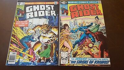 GHOST RIDER MARVEL COMICS 1st Series LOT OF 2: #'s 52 & 53 BRONZE AGE FINE cond