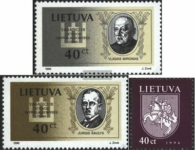 Lithuania 606-607,609 (complete issue) unmounted mint / never hinged 1996 specia