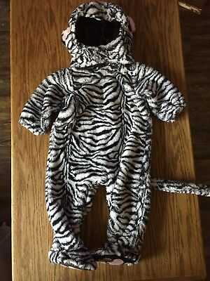 animal planet white tiger hooded soft plush toddler halloween costume 6 12m