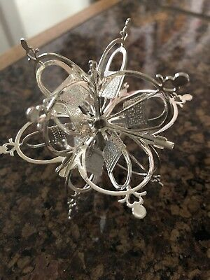 Longaberger Sterling Silver Snowflake Tree Ornament NEW