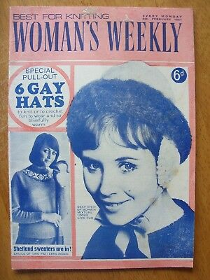Vintage Womans Weekly Best For Knitting Every Monday 4th Feb 1967 Price 6d