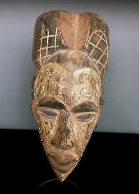 Old    Tribal  Tikar    Mask            ---  Cameroon