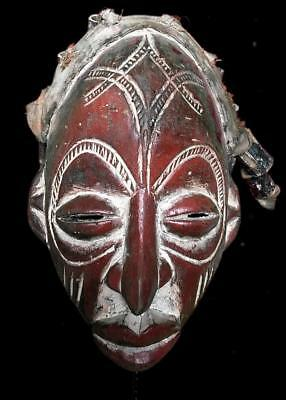 Old Tribal Chokwe Rasta Mask            ---  Angola