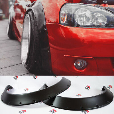 "JDM Fender Flares Universal NEW School Wheel arch SET 2.75"" wide 4 pieces"