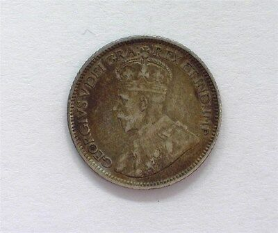 Canada 1913 Silver 10 Cents  Choice Extremely Fine