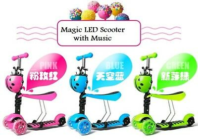 5 in 1 Kids Scooter Mini Baby Mobility Scooters Toddler Children 3 wheel