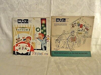 Two Vintage 1958 May Co. Catalogs Toys & Housewares NR
