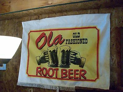 Ola Old Fashioned Root Beet 2 ft x 3 ft Heavy Nylon Finged Hanging Banner Flag
