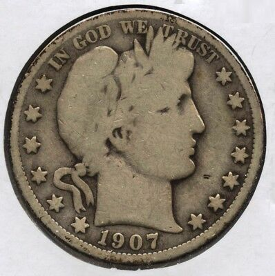 1907-O Barber Half Dollar - New Orleans Mint AT680