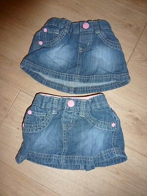 twin girls 6-9 months denim skirts mothercare good condition