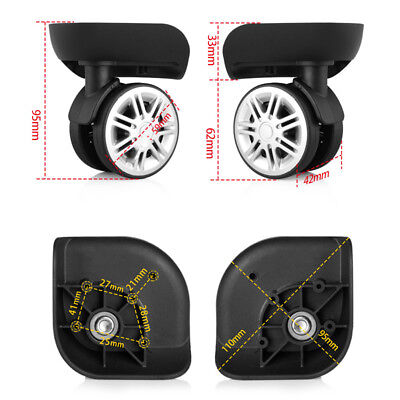 2/4pcs Replacement Luggage Suitcase Wheels Swivel Universal Bags 360° Wheel W074