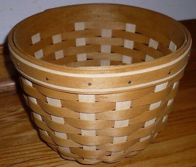 Longaberger Circular Handmade Basket Made in the USA