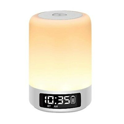 YSD Bedside Lamp with Bluetooth Speaker, Touch Sensor Table Lamp, Dimmable Wa...