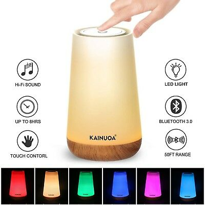 Touch Table Lamp, Kainuoa Upgrade Touch Bedside Lamp with Bluetooth Speaker, ...