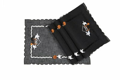 Xia Home Fashions Haunted House Embroidered Cutwork 14-Inch by 20-Inch Halloween