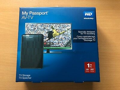 Western Digital My Passport 1 TB,External, (WDBHDK0010BBK-UA), AV-TV