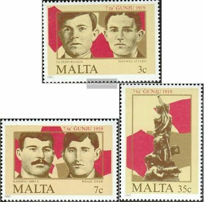 Malta 728-730 (complete issue) unmounted mint / never hinged 1985 Uprising