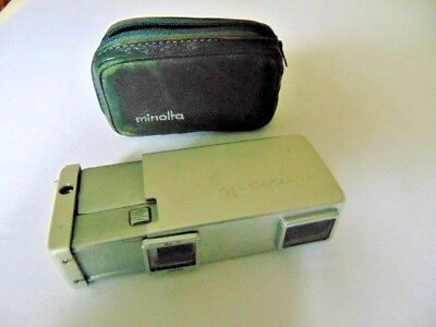 "Minolta Mini ""Spy Camera"" + Original Zippered Leather Case"