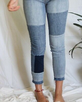 New free people patched skinny jeans size 29