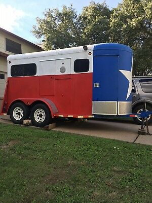 TEXAS FLAG HORSE TRAILER HAULING 6x12 **TAGS NEED UPDATING**