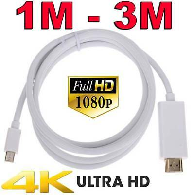 Mini DisplayPort DP to HDMI Cable Display Port for Microsoft Surface Pro 4K Mac