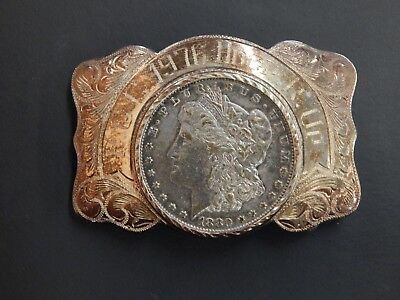 Wades Silver Shope Reno NV P.G.C. 1976 HDGP Round Up Sterling Belt Buckle #244