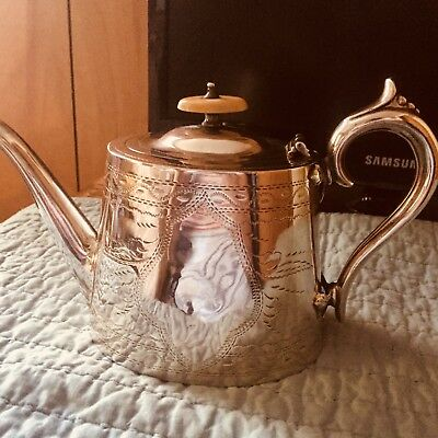 Antique Teapot American 18/19 Ct With Beautiful Engraving