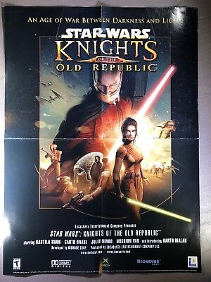 "STAR WARS Knights Of The Old Republic PROMO POSTER 15""x20"" XBOX 2003 Very RARE!"