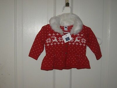 Baby Girl 3-6 Months Janie & Jack Nordic XMAS Sweater With Tags