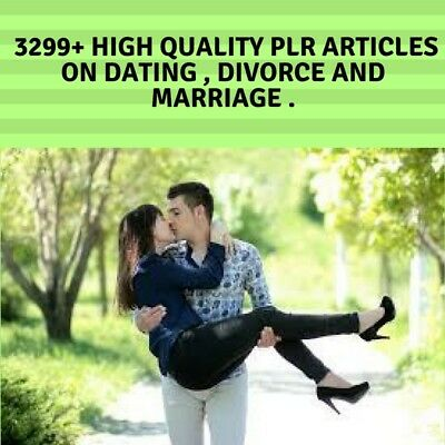 3299+ High Quality PLR Articles on Dating , Divorce and Marriage