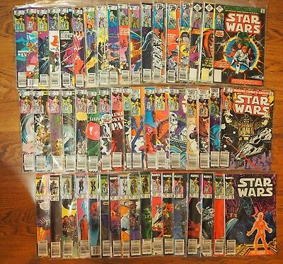 STAR WARS MARVEL Lot of 52 Comics - Includes No Bar Code #1 1977