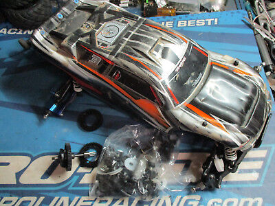 Traxxas Rustler 1/10 truck chassis UPGRADED
