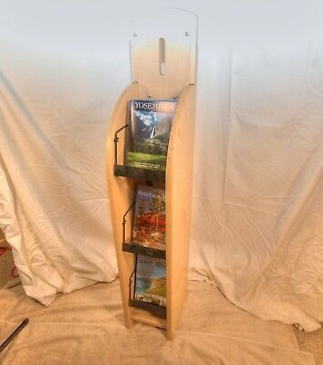 WOODEN Digest Magazine DISPLAY STAND/RACK. BLOND Wood finish. USED!