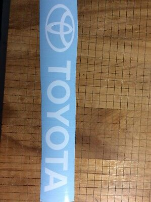 Toyota Decal vinyl decal , Toyota forklift decal WHITE