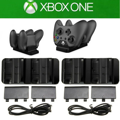 Dual Controller Quick Charge Dock Station Stand Battery Pack for Xbox One S X