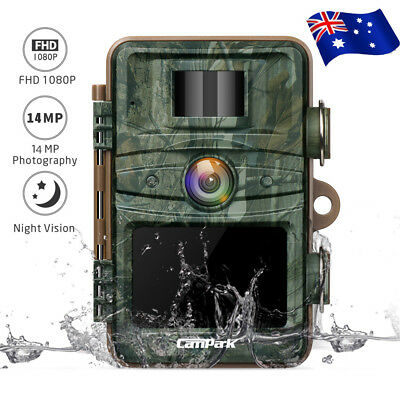 Campark Wild Trail Camera 14MP FHD 1080P Game Hunting Cam Invisible Night Vision