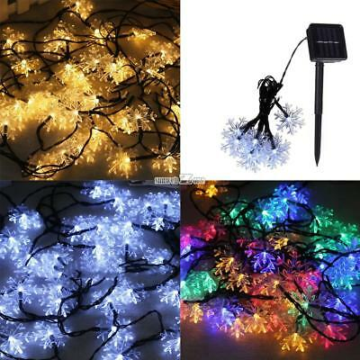 Solar String Light Led Snowflake Garden Festival Party Decoration Lamp RR6 01