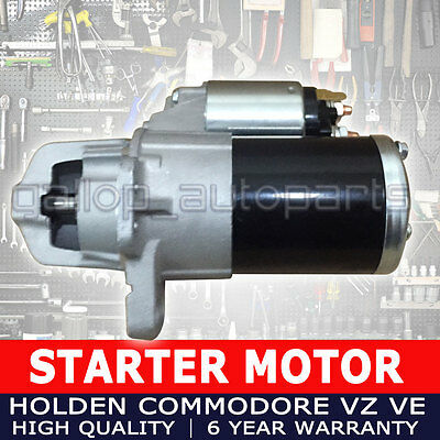 Starter Motor for all Holden Commodore VZ VE V6 (LY7) 3.6L Petrol 2004 - 2013