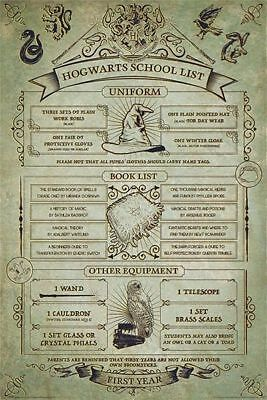 Harry Potter Hogwarts School List Poster