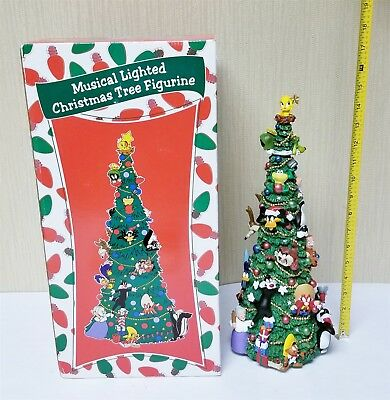 Warner Brothers Looney Tunes Musical Lighted Christmas Tree In Orig. Box