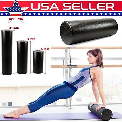 EPP Foam Roller 60cm Black High Density Extra Firm For Yoga Exercise Massage TU