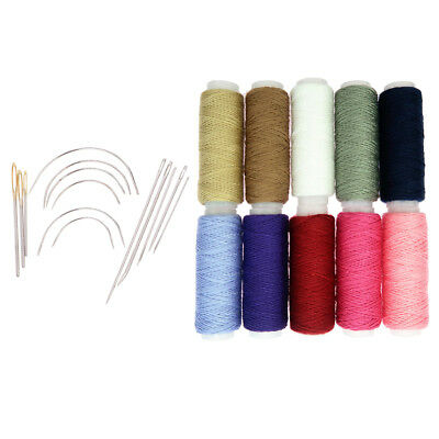 24Pcs Heavy Duty Cotton Threads Needles For Leather Tent Canvas Tent Repair