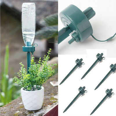 1/3/5pcs Automatic Watering Spike Plant Flower Waterers Bottle Irrigation System