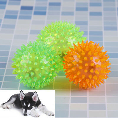 Flashing light pet hedgehog ball creative puppy toy dog supplies random color FT
