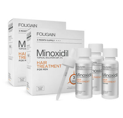 FOLIGAIN HAIR LOSS TREATMENT 5% Minoxidil For Men,6 Month Supply,Regaine Hair Gr