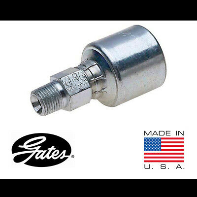 (Pack of 3) Gates 6G-6MP, G25100-0606 MegaCrimp Male Pipe Hydraulic Hose Fitting